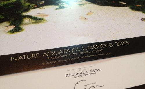 NATURE AQUARIUM CARENDAR2013ご案内+・・・