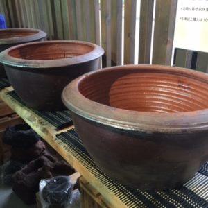 メダカ用素焼き鉢